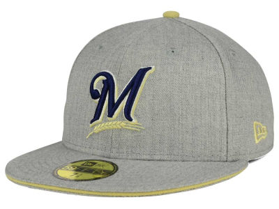 Milwaukee Brewers New Era MLB Heather Slice 59FIFTY Cap