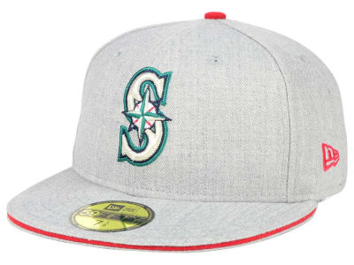 Seattle Mariners New Era MLB Heather Slice 59FIFTY Cap