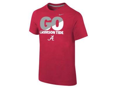 Alabama Crimson Tide Nike NCAA 2015 Youth Short Sleeve Cotton T-Shirt