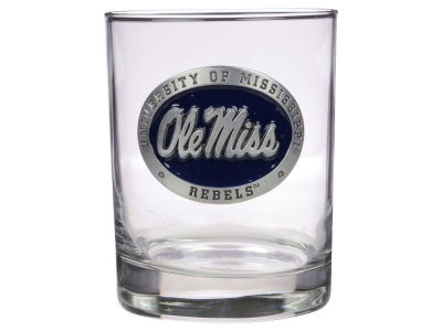 Ole Miss Rebels Double Old Fashioned Glass