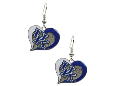 Kentucky Wildcats Swirl Heart Earrings