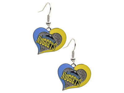 Denver Nuggets Swirl Heart Earrings