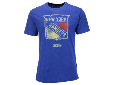 New York Rangers Reebok NHL CCM Bigger Logo T-Shirt