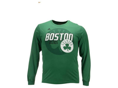 Boston Celtics adidas NBA Men's Distressed Back Logo Long Sleeve T-Shirt