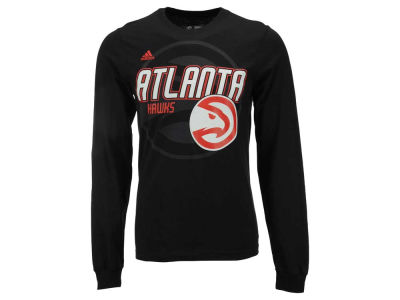 Atlanta Hawks adidas NBA Men's Distressed Back Logo Long Sleeve T-Shirt