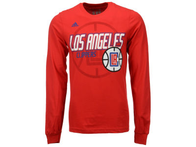 Los Angeles Clippers adidas NBA Men's Distressed Back Logo Long Sleeve T-Shirt
