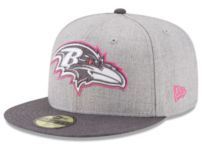 Baltimore Ravens New Era NFL 2015 Breast Cancer Awareness 59FIFTY Cap