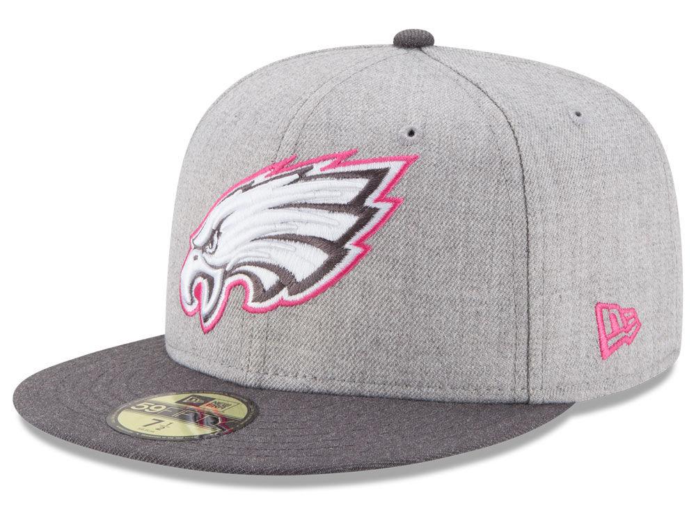 503eff356 Philadelphia Eagles New Era NFL 2015 Breast Cancer Awareness 59FIFTY Cap