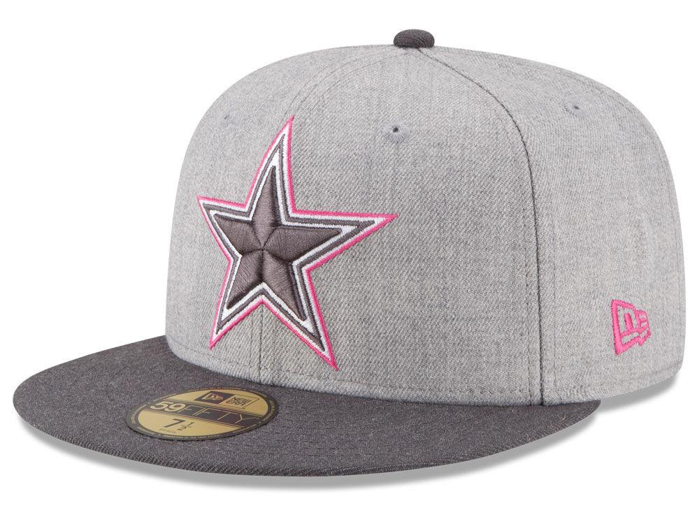 c4a42cd53 Dallas Cowboys New Era NFL 2015 Breast Cancer Awareness 59FIFTY Cap ...