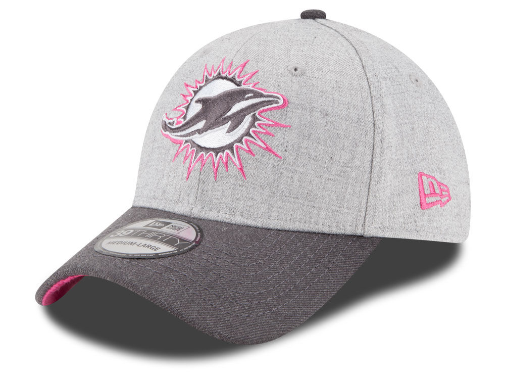 1c14076f1 ... sideline 59fifty fitted hat 9ae63 dbcd9  free shipping miami dolphins  new era nfl 2015 breast cancer awareness 39thirty cap 2e3f4 4f5ac