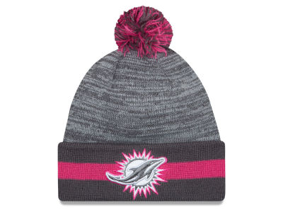 Miami Dolphins New Era NFL 2015 Breast Cancer Awareness Sport Knit