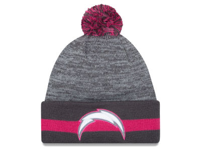 San Diego Chargers New Era NFL 2015 Breast Cancer Awareness Sport Knit