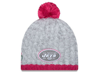 New York Jets New Era NFL 2015 Women's Breast Cancer Awareness Knit