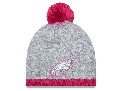 Philadelphia Eagles New Era NFL 2015 Women's Breast Cancer Awareness Knit
