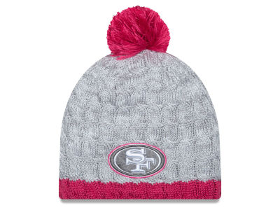 San Francisco 49ers New Era NFL 2015 Women's Breast Cancer Awareness Knit