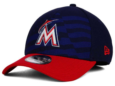 Miami Marlins New Era MLB 2015 Stars & Stripes 39THIRTY Cap