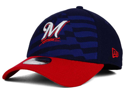 Milwaukee Brewers New Era MLB 2015 Stars & Stripes 39THIRTY Cap