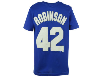 Los Angeles Dodgers Jackie Robinson Majestic MLB Youth Official Player T-Shirt