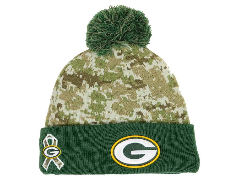 389717a99 Green Bay Packers New Era NFL 2015 Salute to Service Knit
