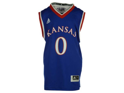 Kansas Jayhawks #0 adidas NCAA Youth Replica Basketball Jersey