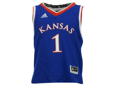 Kansas Jayhawks #1 adidas NCAA Kids Replica Basketball Jersey