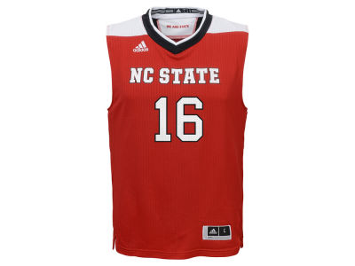 North Carolina State Wolfpack #16 adidas NCAA Kids Replica Basketball Jersey
