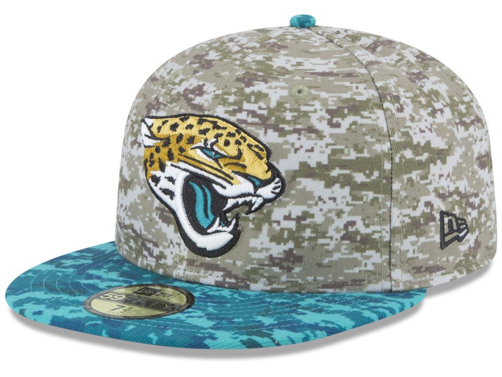 03adb9ebc8a Jacksonville Jaguars New Era NFL 2015 Salute to Service 59FIFTY Cap ...
