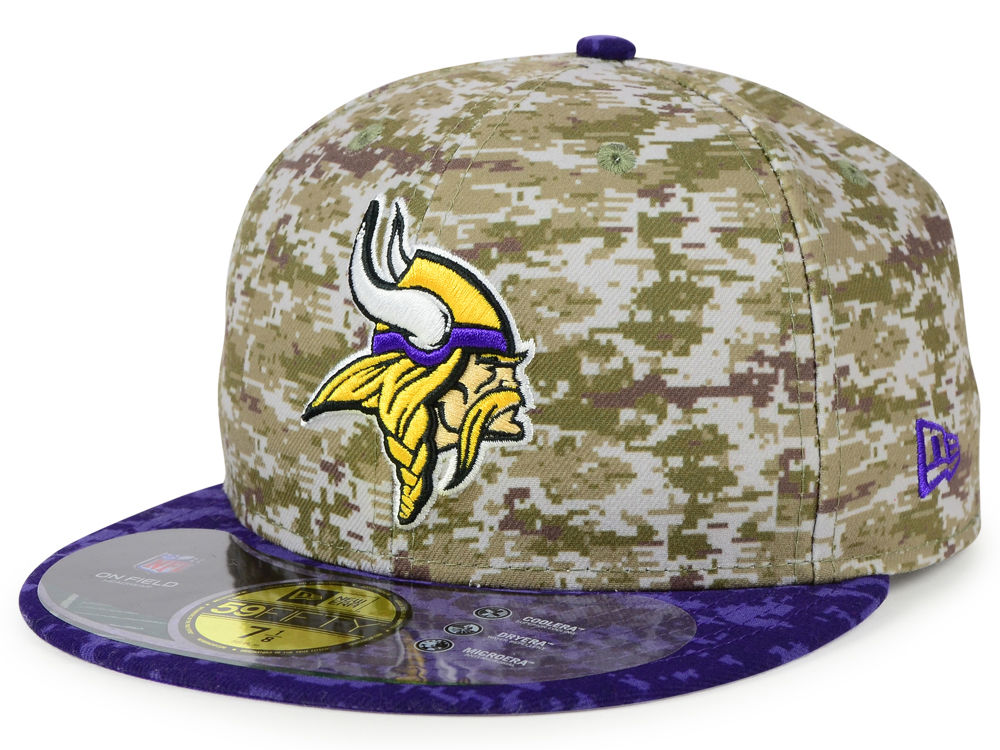 Minnesota Vikings New Era NFL 2015 Salute to Service 59FIFTY Cap ... 9e624cffe