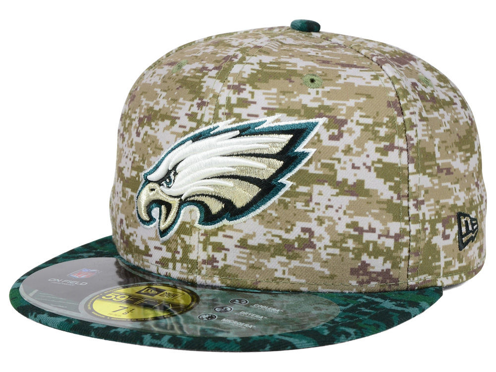 Philadelphia Eagles New Era NFL 2015 Salute to Service 59FIFTY Cap ... 4f1b2830d61e