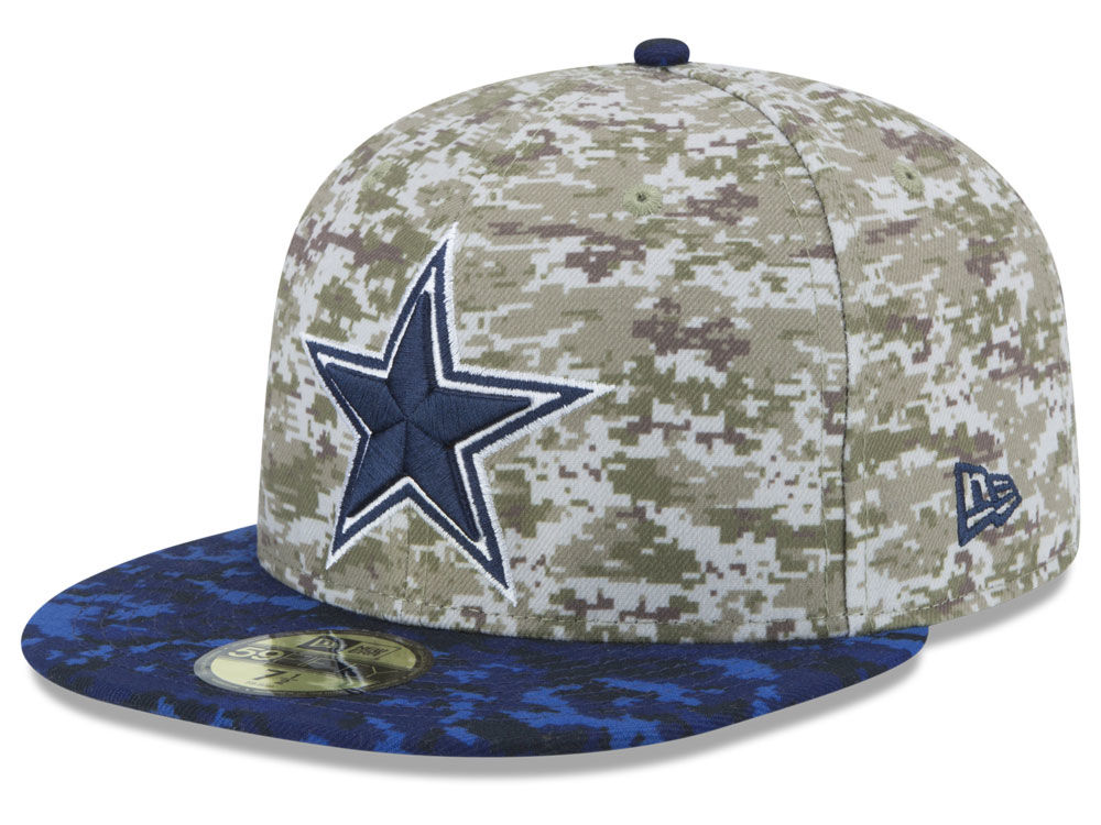 Dallas Cowboys New Era NFL 2015 Salute to Service 59FIFTY Cap  5ef08e6a632