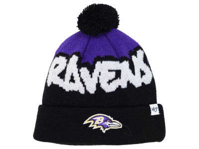 Baltimore Ravens '47 NFL Youth Underdog Pom Knit