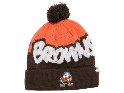 Cleveland Browns '47 NFL Youth Underdog Pom Knit