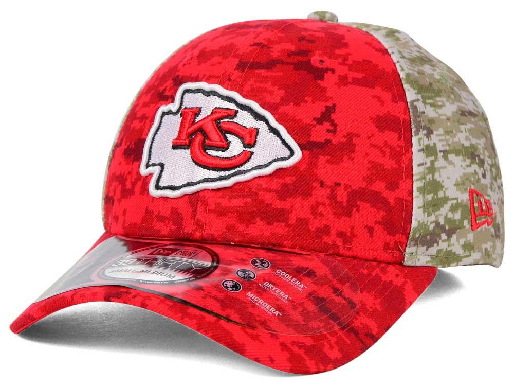 be9d94e00 Kansas City Chiefs New Era NFL 2015 Salute to Service 39THIRTY Cap ...