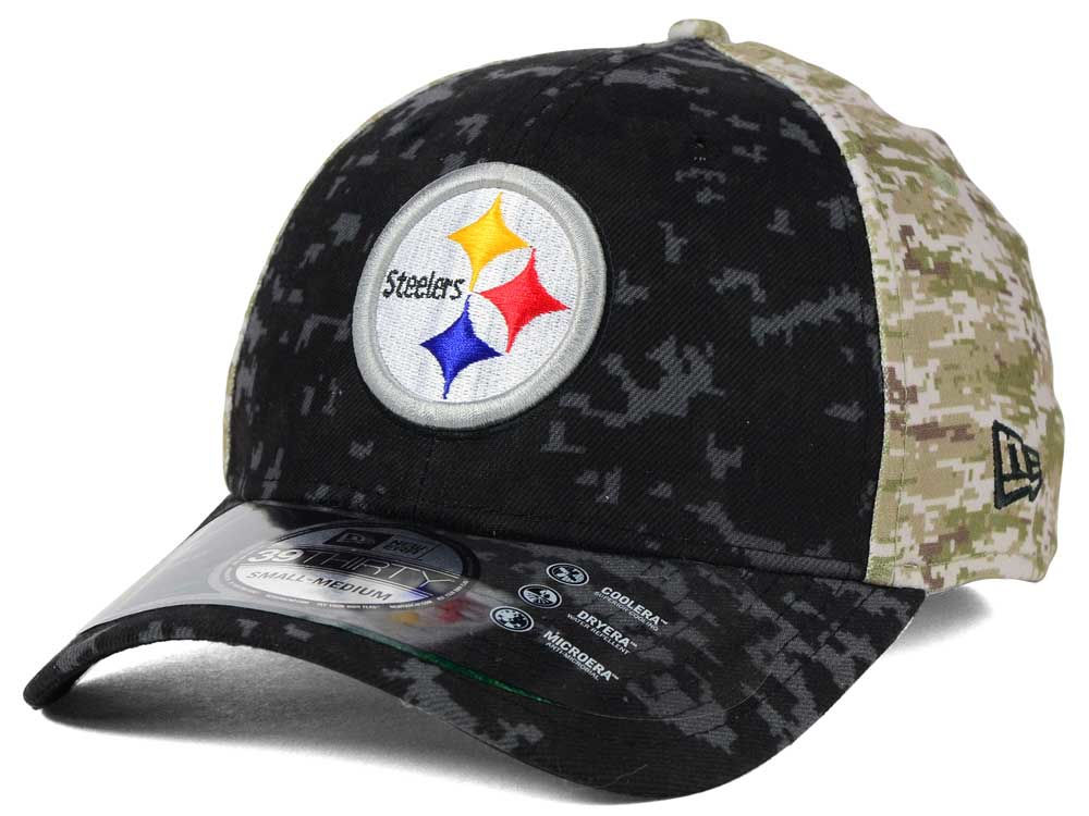 Pittsburgh Steelers New Era NFL 2015 Salute to Service 39THIRTY Cap ... 79a4684ea