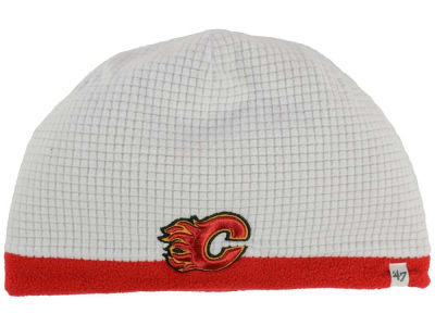 Calgary Flames '47 NHL '47 Grid Fleece Beanie Knit