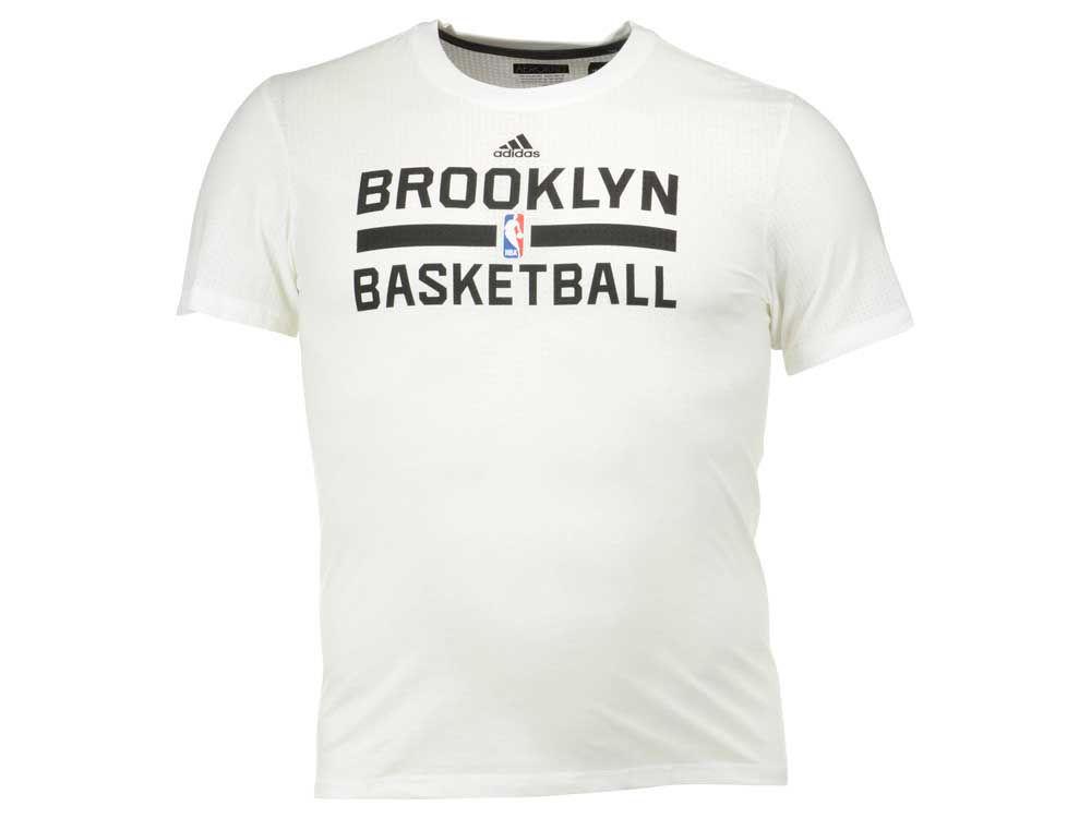 29bf7e4be Brooklyn Nets adidas NBA Men's On Court Graphic Aeroknit T-Shirt   lids.com