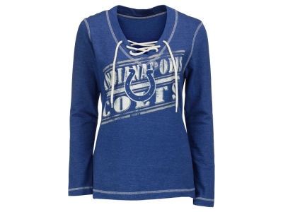 Indianapolis Colts NFL Women's Queen V-Neck Fleece Sweatshirt