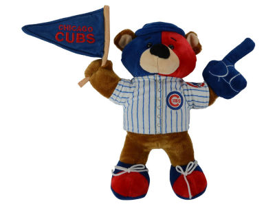 Chicago Cubs 10inch Fan Bear