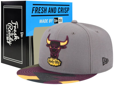 Chicago Bulls New Era NBA HWC Bordeaux Hook Up 9FIFTY Snapback Cap