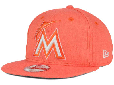 Miami Marlins New Era MLB Heather C-Dub 9FIFTY Snapback Cap
