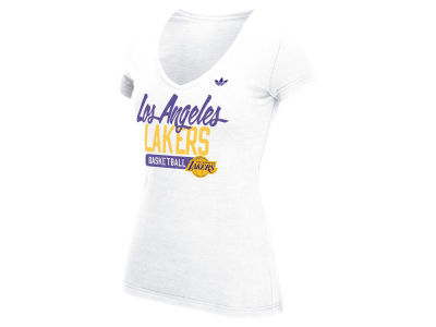 Los Angeles Lakers adidas NBA Women's Meshed Well T-Shirt