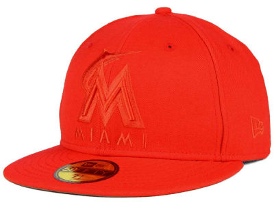 Miami Marlins New Era MLB Ton-Wool 59FIFTY Cap