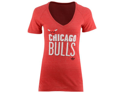 Chicago Bulls adidas NBA Women's Stretched Type T-Shirt