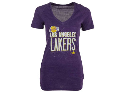 Los Angeles Lakers adidas NBA Women's Stretched Type T-Shirt