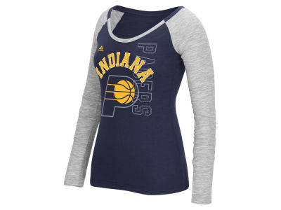 Indiana Pacers adidas NBA Women's Team Liquid Dots Long Sleeve T-Shirt