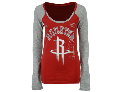 Houston Rockets adidas NBA Women's Team Liquid Dots Long Sleeve T-Shirt