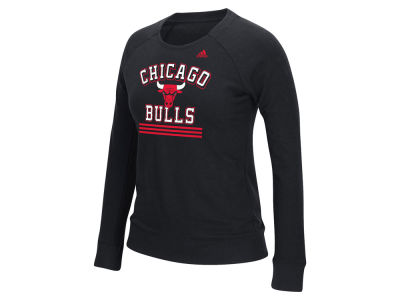 Chicago Bulls adidas NBA Women's True Stripes Crew Sweatshirt