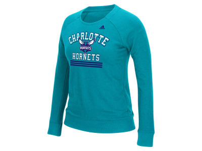 Charlotte Hornets adidas NBA Women's True Stripes Crew Sweatshirt