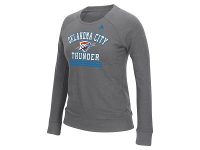 Oklahoma City Thunder adidas NBA Women's True Stripes Crew Sweatshirt