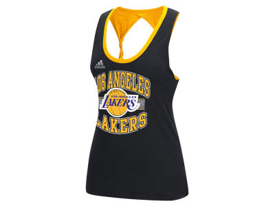 Los Angeles Lakers adidas NBA Women's Twist Tank
